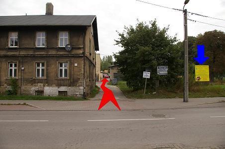 Dojazd ul. Morawa od strony Sosnowca